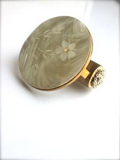 folding mirror lipstick holder compact mirror  by LemonRoseStudio, $31.50