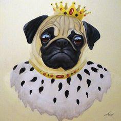 Glasbild Anowi Tiere Humor Malerei Creme