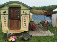 Daphne's Caravans: Magical Gypsy Caravans, guest spaces or retreats Garden Awning, Gypsy Trailer, Gypsy Living, Shepherds Hut, Gypsy Rose, Gypsy Wagon, Mandala, Cabins And Cottages, House On Wheels