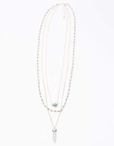 Long stone detail necklaces (set of 3). Discover this and many other products at Bershka with new products every week