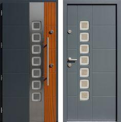 Drzwi wejściowe z kolekcji INOX model 455,2-455,12+ds1 produkcji AFB-Kraków