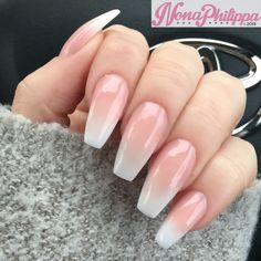 Baby boomer coffin acrylic nails