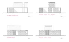 PRO.CRE.AR. PERROUD | AToT Arquitectos Layouts Casa, House Layouts, House Property, My House, Facade House, House Facades, Casa Top, Warehouse Design, Concrete Houses