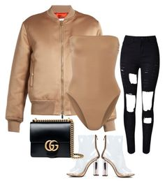 by mullaqueen on Polyvore featuring polyvore, fashion, style, Givenchy, Norma Kamali, WithChic, Gucci and clothing