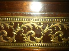 """Found on EstateSales.NET: Inlaid Rosewood Dining Room Table with Gilt Bronze Decoration, 2-18"""" Leaves, 2 Pedestal Base with Hairy Paw Feet, c.1890"""