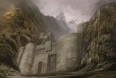 Gates of the Moon, by Paolo Puggioni at The World of Ice and Fire http://www.paolopuggioni.com/illustrations/world-ice-fire/