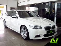 BMW 5 Series 520d M Sport Touring F11 Exterior Alpine White Interior Venetian Beige Dakota Leather