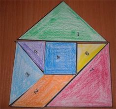 Einfach das Quadrat abzeichnen oder ausdrucken und entlang der Linien zerschneiden. Aus diesen sieben Teilen kannst du die unterschiedlichsten Figuren legen. Fördert die Raumwahrnehmung!