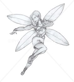 My pencil drawing of a fairy.  From the set of tutorials on my website.