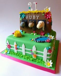 Pretty stables/horse cake