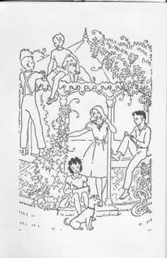 Elizabeth Enright's illustration from her book, Then There Were Five.