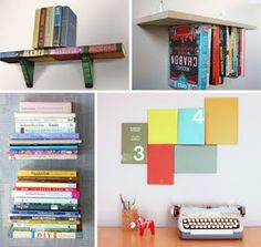 DIY decorating with books