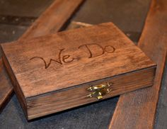 We Do Couples Ring Box by BostonStreetBoutique on Etsy, $15.50