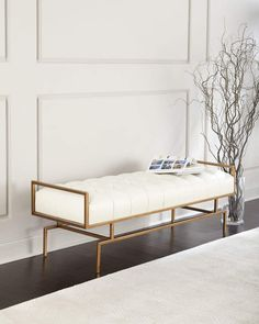 Hervorragend John Richard Collection John Richard Collection Huggins Tufted Leather Bench