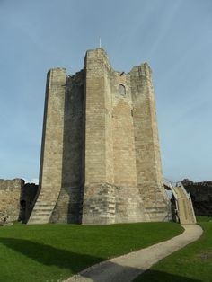 12th Century Keep at Conisbrough Castle, Doncaster, Yorkshire, England