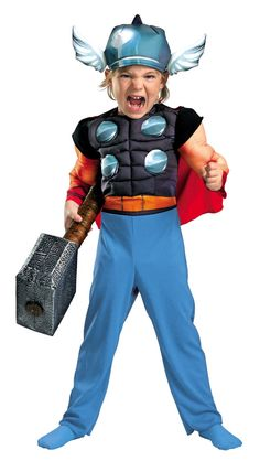 Deluxe Toddler Muscle Thor Costume