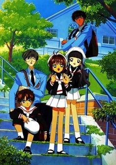 CardCaptor Sakura ~~ Touya, Yukito, and the kids. Anime Sexy, Hot Anime, Manga Anime, Anime Art, Cardcaptor Sakura, Sakura Kinomoto, Syaoran, Sakura Card Captors, Fantasy Anime