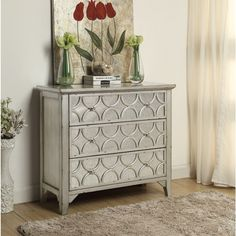 Somette Silver Weathered 3-Drawer Cabinet