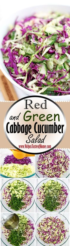 A New Year calls for resolutions, right? So, who doesn't have one to eat healthily or incorporate more vegetables into their diet? This very colorful, light, crunchy, flavorful, and satisfying salad should also be on many kitchens' salad lists to rotate at dinner. It's a fresh idea and good tasting salad that works with many main dish and meat combinations. As we gear up for a fresh and new year, we must remember to fuel our bodies so that we may stay healthy. | www.valyastasteofhome.com