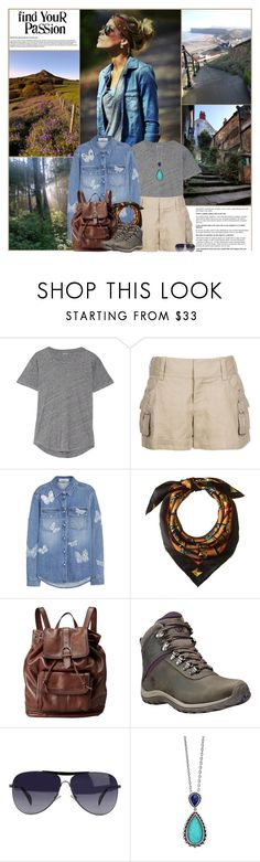 """Find Your Passion: Walking"" by kittyfantastica ❤ liked on Polyvore featuring Madewell, Alice + Olivia, Valentino, MCM, FOSSIL, Timberland, Giorgio Armani, Lagos and country"