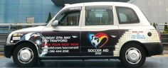 ITV promotes the biggest celebrity charity football event of the year using Taxi Advertising.