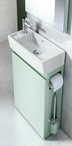 idee salle de bain petite surface, meubles gain de place dans la salle de bain