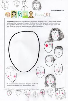 Un camino a ninguna parte: Algunos de los ejercicios del taller de caras con Carla Sonheim