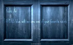 Rule 16: TARDIS blue will become one of your favorite colors.  [Image from Here]
