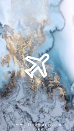 Blue Gold Marble Theme Instagram Highlights Icon by @ilse.zwart - Airplane Instagram Status, Pink Instagram, Instagram Logo, Instagram And Snapchat, Instagram Story, Blue Marble Wallpaper, Airplane Icon, Colored Smoke, Blue Highlights