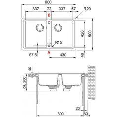 Zlew FRANKE BFG 620 Grafitowy 114.0298.963 (zamów wycięcie otworów gratis)