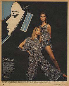 Instant access to historical digital collections. Samantha Jones, Vintage Advertisements, Supermodels, Pop Culture, Peplum Dress, Vintage Fashion, Womens Fashion, 1960s, Advertising