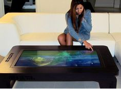 Start the day the geeky way. Mozayo multitouch coffee table.