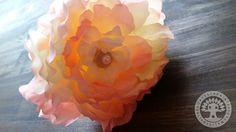 Peach Petal Metal Headband by Corinne Jade