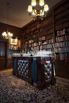 Ha... fancy room with books and booze...    Too Much Temptation