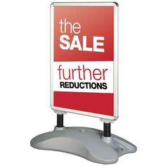 Large format forecourt sign with water fillable base. A double sided display available to fit either or posters. Order today from the UK's leading supplier of display stands. Pvc Banner, Change Meaning, Poster Display, Chalk Pens, Pavement, A0 Poster, Signs, Prints, Car Wrap