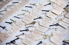 Glamorous Wedding With Vintage Key Wedding Favors--- Cute idea, but I'd never actually part with my vintage keys. Vintage Wedding Favors, Wedding Favours, Diy Wedding, Wedding Ideas, Vintage Weddings, Wedding Stuff, Party Favors, Card Wedding, Wedding Blog