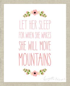 Wall Art Print Girls Room Nursery Let her by brigetteturner, $14.50