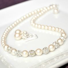 Wedding Jewelry Set Bridal Pearl Jewelry Set by somethingjeweled, $99.00