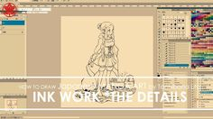"3/3 Digital Ink Work The Details - Drawing Manga Art ""Avina"" 2017.07.19"