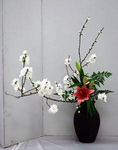 Ohara Ikebana Society of San Diego - Teacher Display