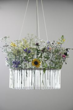"""""""Maria"""" chandelier by Gang Design in Poland. Test tubes that you can fill with flowers, colored water, et cetera!"""
