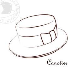 Dibujo para colorear sombrero  Img 27880  Sombreros De Ala
