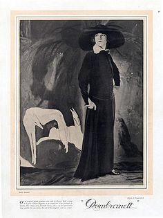 Paul Poiret 1922 Dress Rembrandt, Sighthound, Greyhound