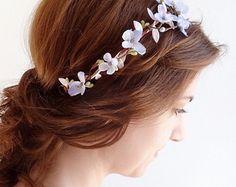 lavender flower crown purple hair flower purple by thehoneycomb