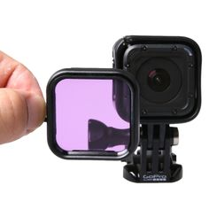 [$3.64] Standard Housing Scuba Accessory Diving Filter for GoPro HERO4 Session(Purple)