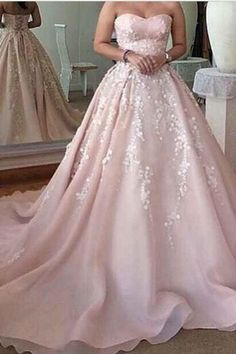prom dress,Sexy Prom Dress,Elegant ball gown dress sweetheart A-line applique prom dresses