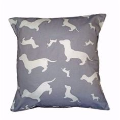 Dachshund Dahks-hound silhouette Breed Specific Dog Cushion And Cover Grey Dog Cushions, Black Silhouette, Cover Gray, Hound Dog, Cushion Pads, Pattern Wallpaper, Grey And White, Dog Lovers, Beige