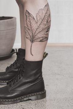 Delicate Maple Leaf Tattoo