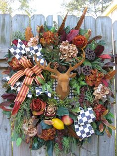 Christmas Wreath Fall Wreath Old World French by IvySageDesigns