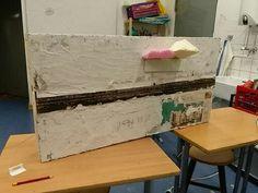 Modul von Jonas, Hier soll ein Felsentor entstehen (wie ehemals auf der Magistrale Nürnberg-Regensburg). Baugröße TT (1:120). Modulabmessungen: 50cm x 100cm